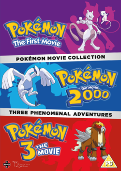 Image result for pokemon movie collection 1-3 manga entertainment  dvd cover