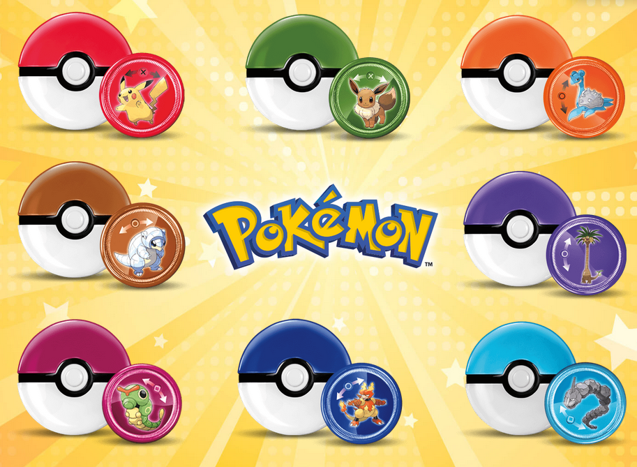 NO CARDS MCDONALD/'S 2019 POKEMON  #  3,4,7,8  LAUNCHER AND DISC ONLY