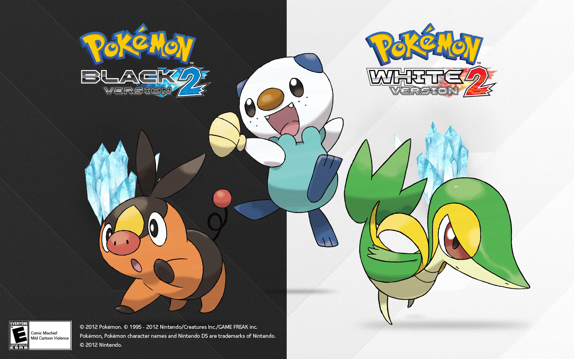 Pok mon black version 2 and pok mon white version 2 wallpapers pocketmonsters net - Starter pokemon blanc ...