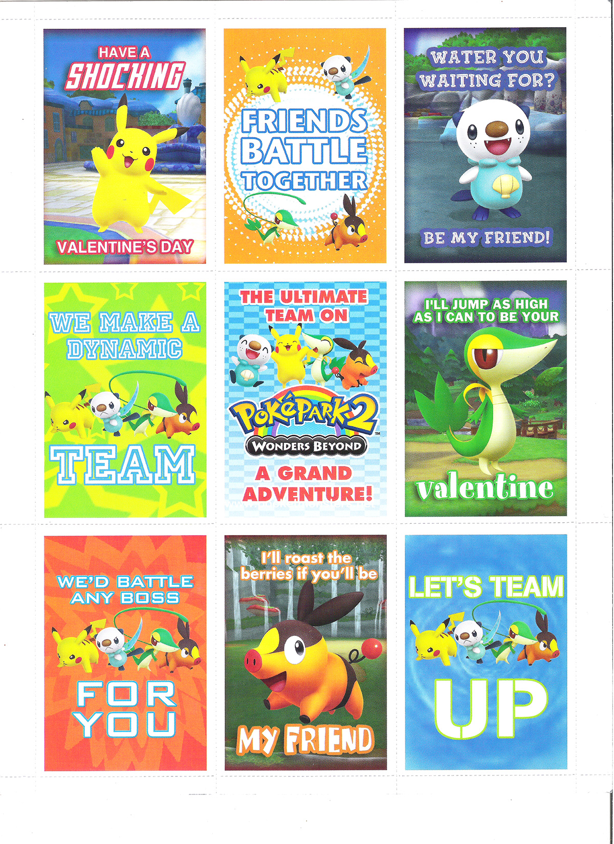 poképark 2 valentine u0027s day cards pocketmonsters net