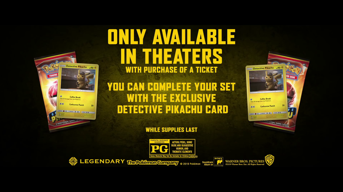 Detective Pikachu promo card